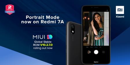 Redmi 7A, uno de los smartphone más baratos de Xiaomi en México se actualiza y ahora permite tomar fotos en modo retrato