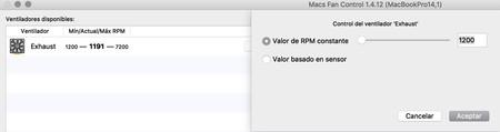 Macs Fan Control RPM