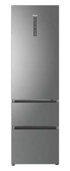 Frigorífico combi - Haier A3FE737CGJ, 371 l, Total No Frost, 205 cm, Inverter, MyZone, Botellero, Inox