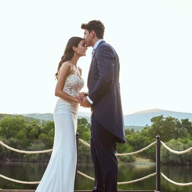 Desvelamos los secretos del vestido de novia de Estela Grande en su boda con Diego Matamoros