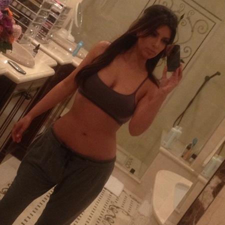 Kim Kardashian se gusta mucho... y en pijama también