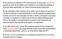 La curiosa condena de Gallardón a la hipotética financiación ilegal del PP