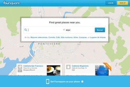 Foursquare renueva su página de inicio