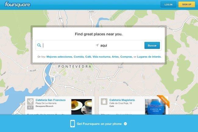 Inicio Foursquare