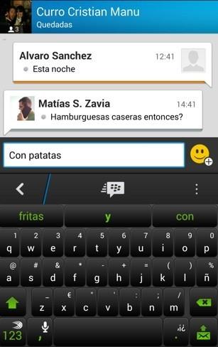 Chat en BBM para Android