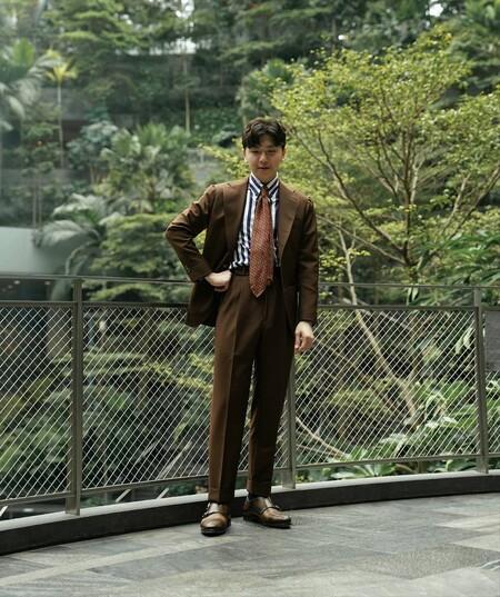 El Mejor Street Style De La Semana Brown Suit Trendencias Hombre 06