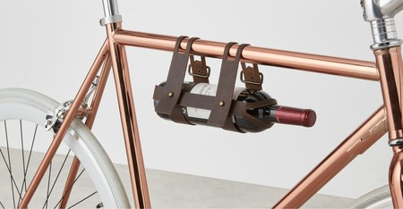 Botellero de cuero para bicicleta