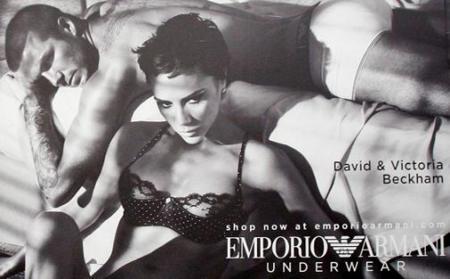 David y Victoria Beckham en ropa interior y juntos para Armani