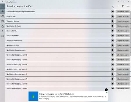 Battery Notification Windows 2