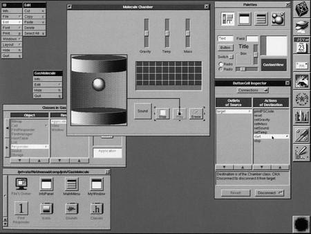 Interface Builder en el sistema operativo NeXTSTEP de NeXT