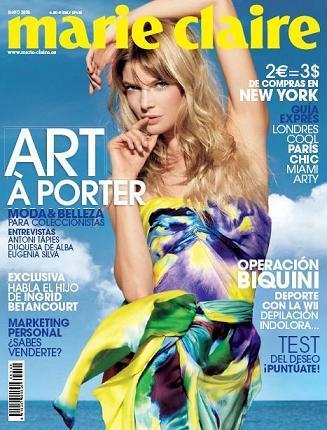 Marie Claire mayo 2008: arte en el quiosco