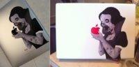 Vinilo Blancanieves Zombie para tu MacBook