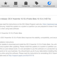 Ya disponible la tercera beta de OS X Yosemite 10.10.4