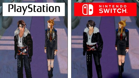Final Fantasy VIII Remastered luce de escándalo en Switch comparado con el clásico de PlayStation