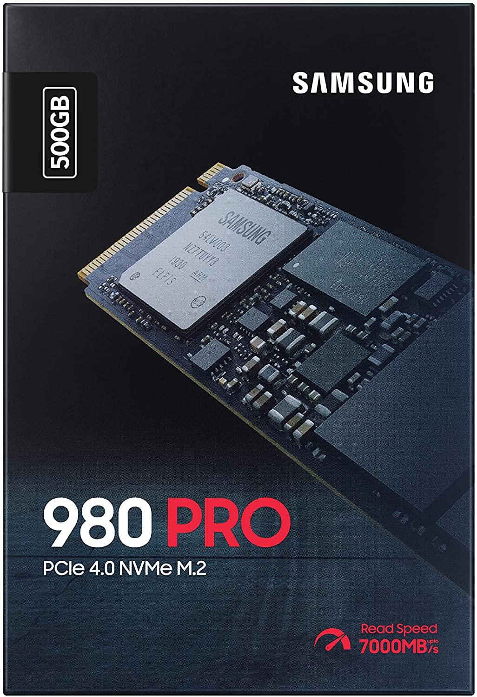 SAMSUNG 980 Pro 500GB PCIe NVMe Gen4 SSD Interno para Videojuegos M.2 (MZ-V8P500B)