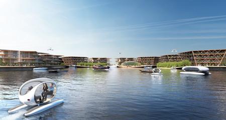 Ciudad flotante con gran diseño
