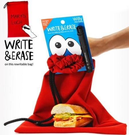 bolsa para merienda Hungry lunch bag roja