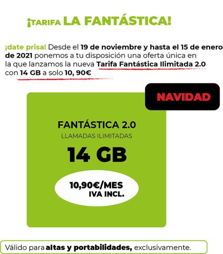 Tarifa La Fantastica