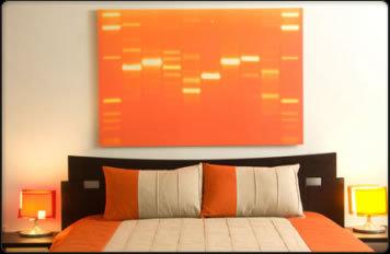 Cuadro con la secuencia de ADN de tu bebé