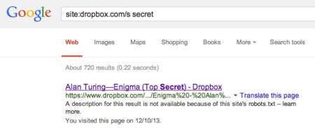 Usando Google para descubrir archivos no tan secretos en Dropbox