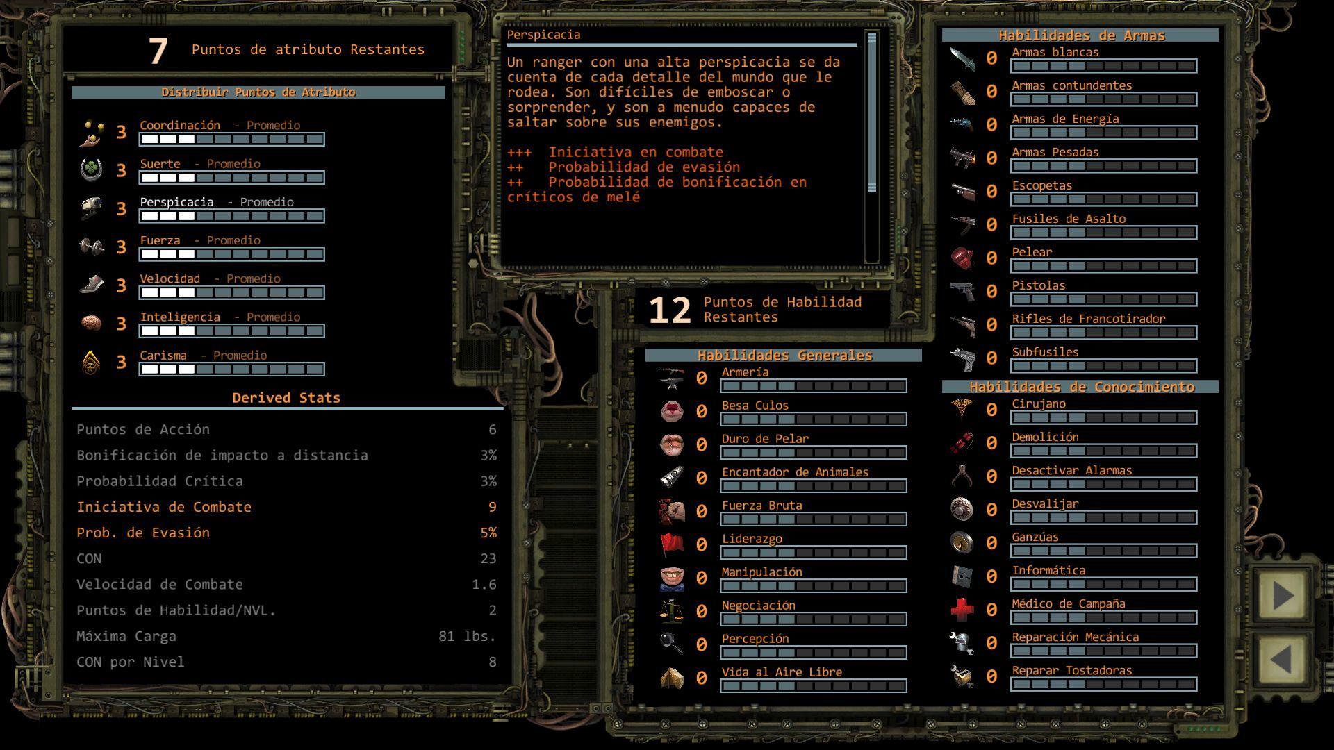 Foto de Distribución de puntos de Atributo en Wasteland 2 (5/11)