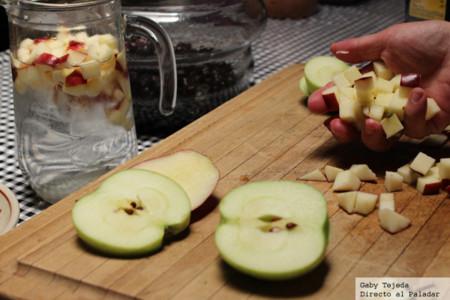 Manzana en cubos agtc c m d a