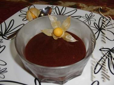 Mousse de chocolate al brandy. Receta