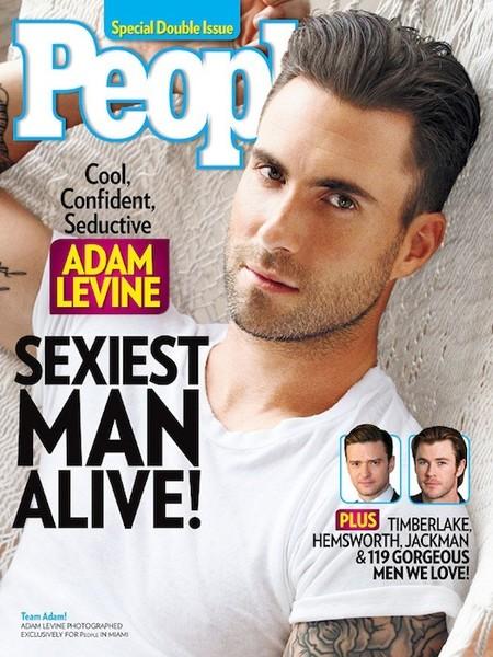 La revista People ha hablado: Adam Levine es el pibón del 2013