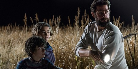 Millicent Simmonds Noah Jupe And John Krasinski In A Quiet Place
