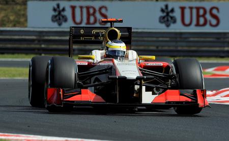Última fila en el Gran Premio de Hungría para HRT