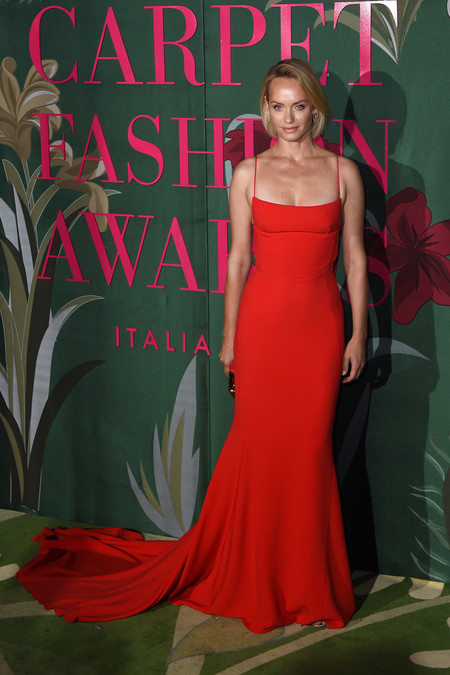 Amber Valletta green carpet fashion awards 2019