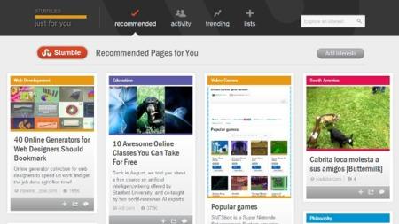 StumbleUpon lanza su nuevo diseño y nuevas funciones para todos sus usuarios