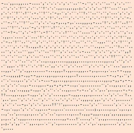 Símbolos de puntuación de El Viejo y el Mar, de Ernest Hemingway.