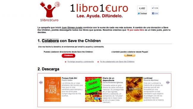 Iniciativas como las de 1 Libro, 1 Euro, demuestran que la gente quiere pagar si se lo ponen fácil.