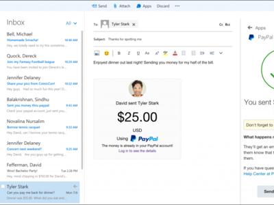 Outlook ahora nos deja instalar plugins de PayPal, Uber, Evernote y Boomerang