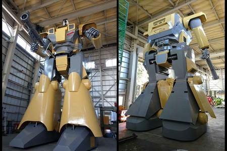 Mononofu, es un enorme robot japonés de nueve metros de altura