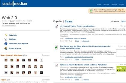 Social|Median, comunidades o redes de noticias temáticas