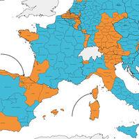 ¿Te sientes más de tu región o de tu país? La identidad preferida de los europeos, en un mapa