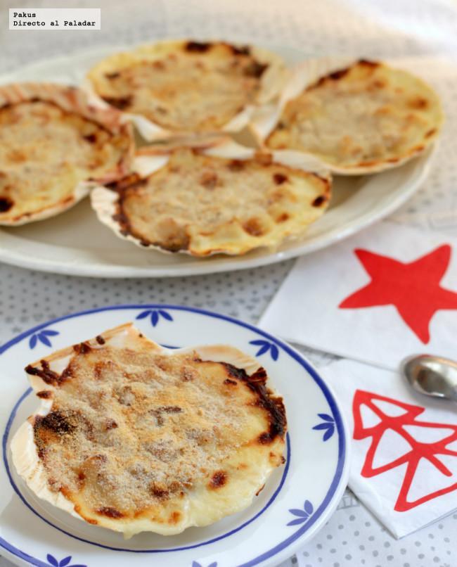 Vieiras rellenas receta de navidad for Cocinar vieiras