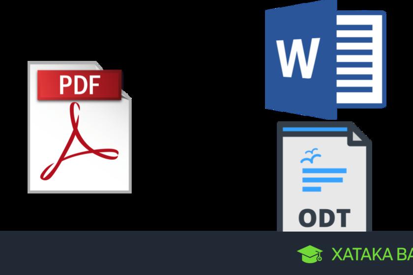 PDF a texto: Cómo convertir un PDF a Word u ODT online y ...