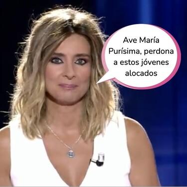 La Última Tentación: el ritual de Sandra Barneda antes de comenzar el debate de las tentaciones en Telecinco