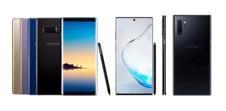 Galaxy Note 9, Note 10 y Note 10+