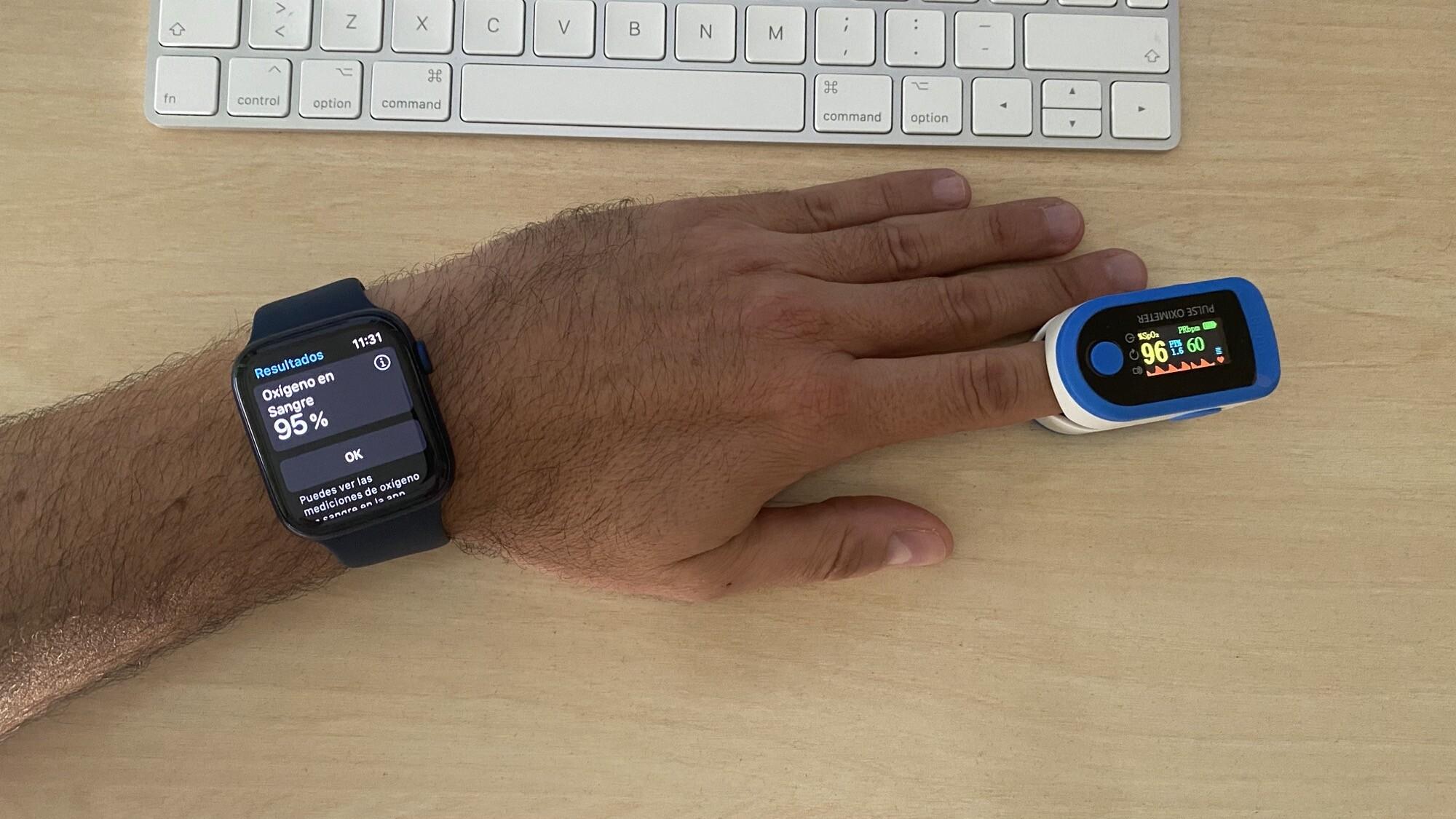 Foto de Mediciones simultáneas SpO2 con Apple Watch Series 6 y pulsioxímetro de dedo (7/12)