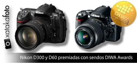 La Nikon D300 y la D60 logran un Diwa Award