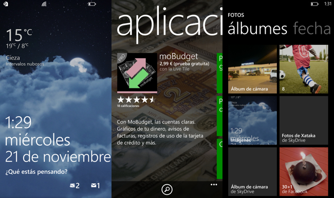 capturas wp8 en HTC 8x