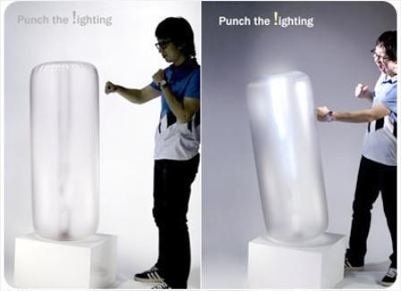 Saco de boxeo luminiscente