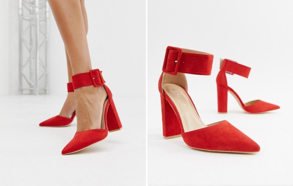 Zapatos de tacón con hebilla al tobillo