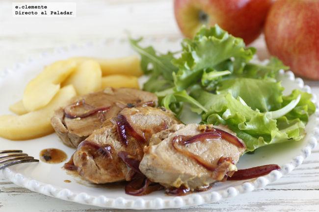 Solomillo de cerdo con mostaza y sidra receta - Solomillo de ternera al horno con mostaza ...
