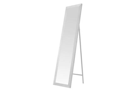 Espejo De Pie Blanco Nordico De Madera De 37 X 157 Cm Lolahome