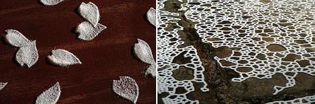 Obras artísticas elaboradas con sal